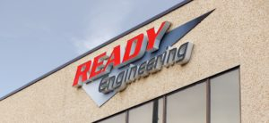 Ready Engineering sign on building