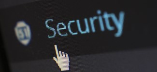 Security logo on computer screen